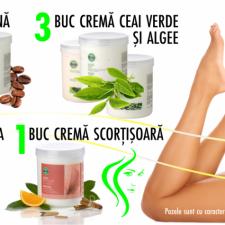OFERTA START UP-Crema Cafeina, Crema Alge-Ceai Verde, Crema Paprika, Crema Scortisoara